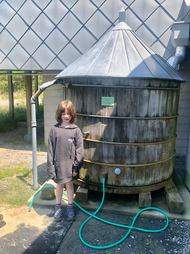Brock environmental center water barrel