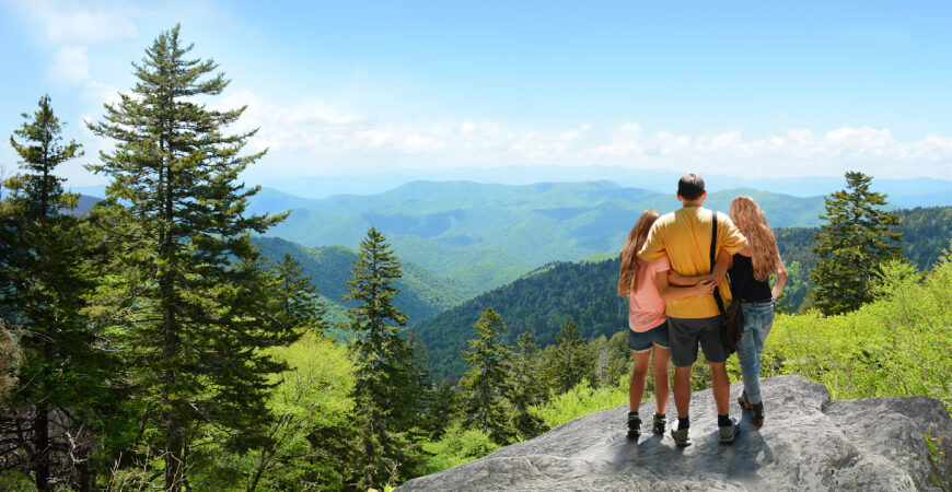 Family in the Shenandoah mountains