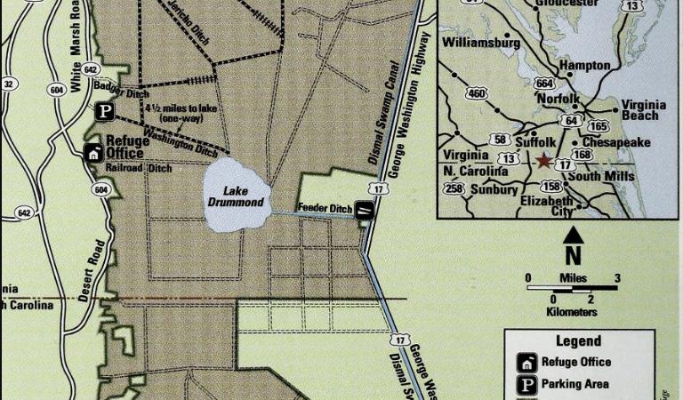 Great dismal swamp map