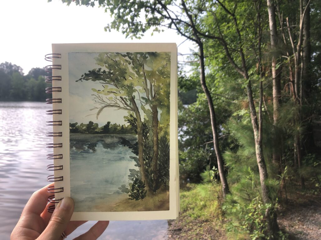 water color painting nature plein air painting
