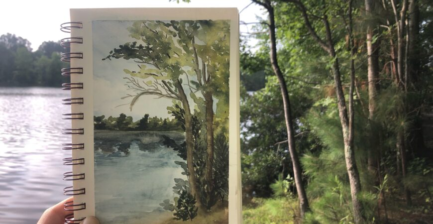 Watercolor in the Woods
