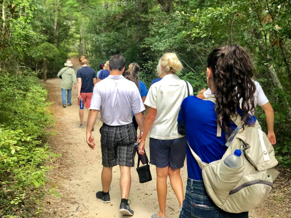 Guided group nature tour in First Landing State Park